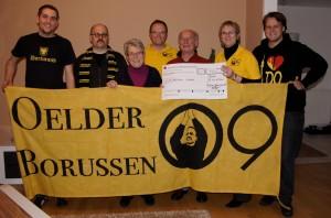Spendenübergabe an die Erich-Kästner-Schule